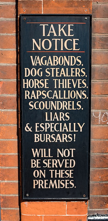 Take Notice Dog Stealers Horse Thieves Canterbury UK