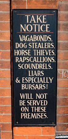 Take Notice Dog Stealers Horse Thieves Canterbury UK