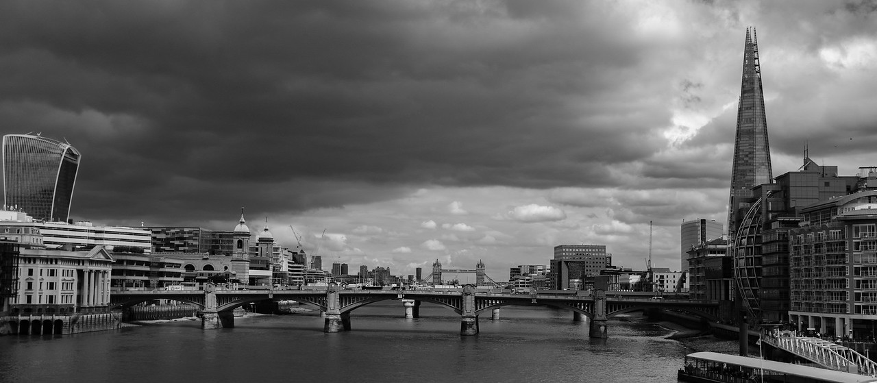 Ominous Clouds RIver Thames London May 2017