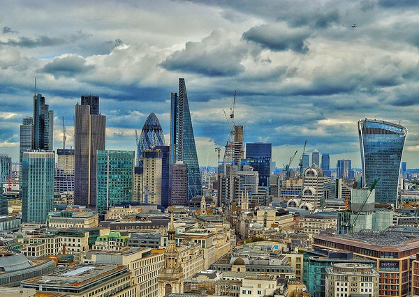 """Central London from St. Paul's"""