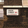 Greek Street, Soho , London, UK - 2012.