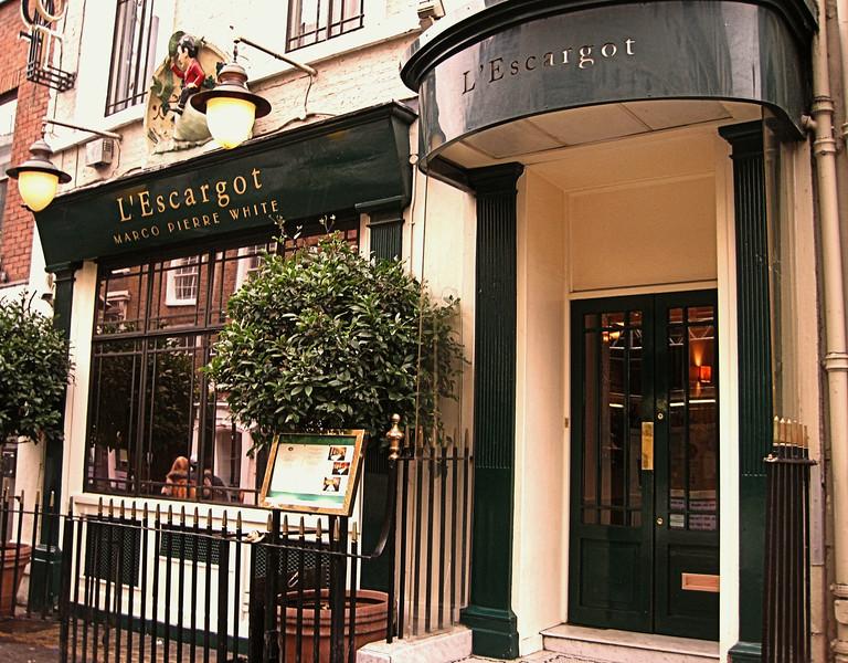 L'Escargot, Greek Street, Soho, London, UK - 2012.