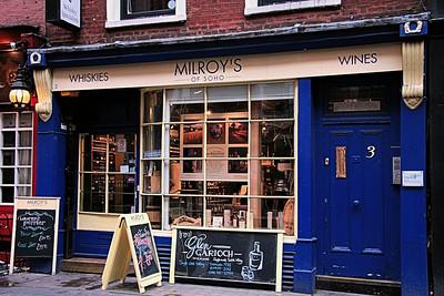 Milroys Whiskies, Greek Street, Soho , London, UK - 2012.