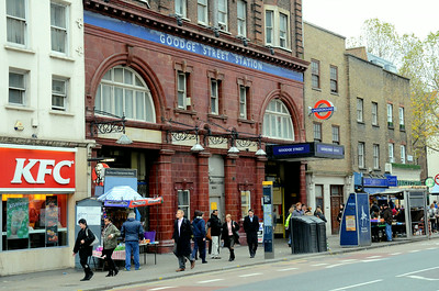 Goodge Street Station, Tottenham Court Road, London, UK - 2012.