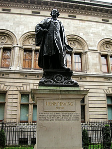 Henry Irving Statue, London, UK - 2012.