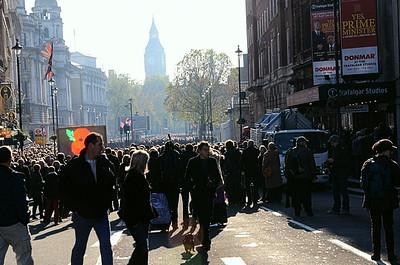 Looking Down Whitehall From Trafalgar Square, London, UK - 2012.