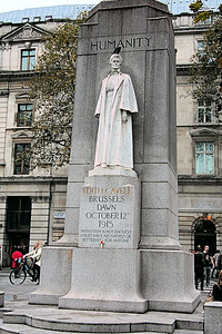Edith Cavell Statue, St Martins Place, London, UK - 2012.