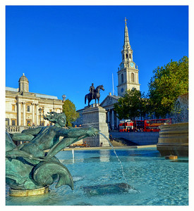 Trafalgar Square, London, UK - 2013.