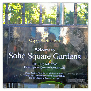 Soho Square Gardens, Soho, London, UK - 2013.