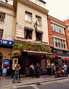The Queens Head, Denman Street,  London, United Kingdom - 2014.