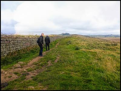 Steel Rigg & Crag Lough Walk, Northumberland, UK - 2019.