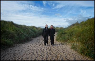 Cresswell Beach Walk, Northumberland Coast, UK - 2019.