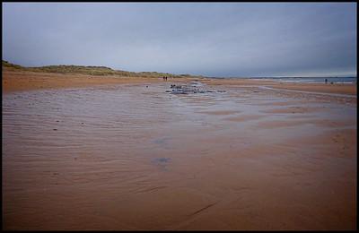 Cresswell Beach Walk, Northumberland,  UK - 2020.