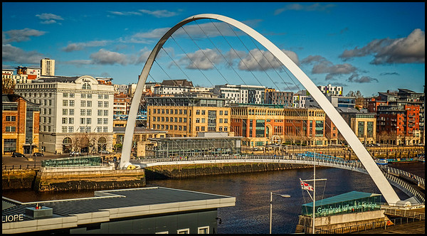 Gateshead To Dunston Walk, Tyne & Wear,  UK - 2020.