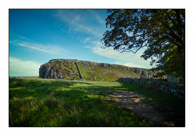 Winshield Crags & Cawfields, Hadrians Wall Walk, Northumberland, UK - 2020.