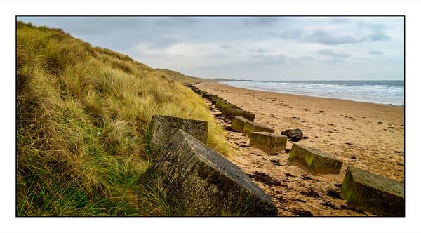 Druridge Bay Beach Walk, Northumberland, UK - 2020.