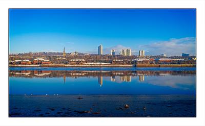Dunston To Newcastle Walk, Tyne & Wear, UK - 2021.