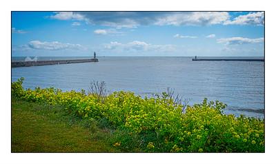 North Shields To Whitley Bay Walk, Tyne & Wear, UK - 2021.