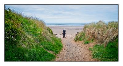 Druridge Bay To Creswell Walk, Northumberland, UK - 2021.
