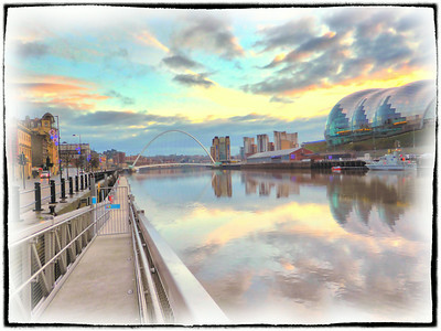 Quayside And Angel Of The North, Tyne & Wear - UK 2013.