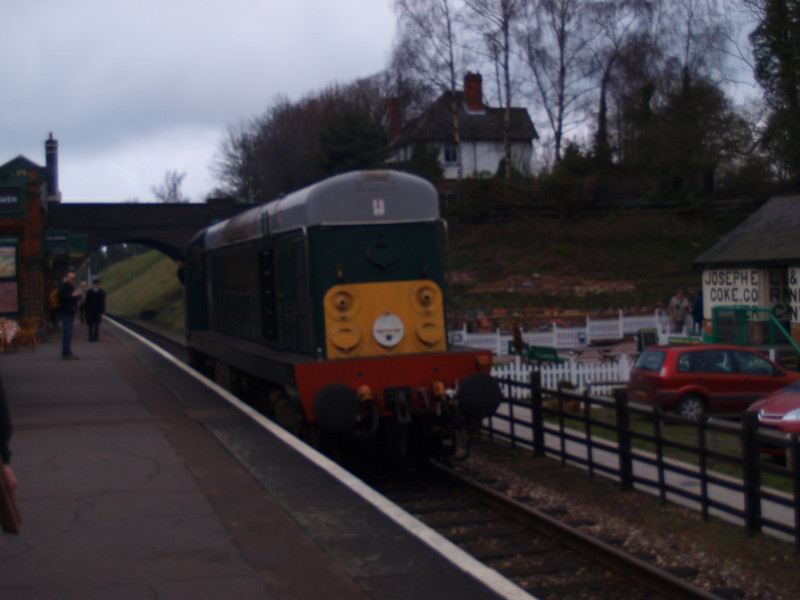 Class 20 D8098 passing Rothley light engine.