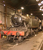 Great Western 2-6-2 Tank No. 4141 lingers within Loughborough Shed.