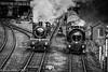 "Great Western ""Manor"" class No. 7802 ""Bradley Manor"" light engine before joining passenger working."