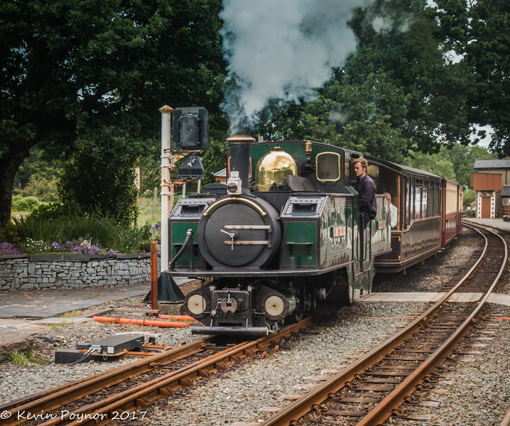 Fairlie No. 11 Earl Of Merioneth at Minffordd Station.