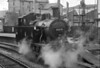 LMS 3F No. 47279 taking water on Keighley platform 3.