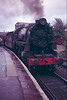 USATC 2-8-0 Class S160 (believed to be No. 8758 as this is resident at Keighley and Worth) at Keighley station mid 1980's.