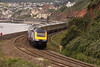 First Great Western service HST leaving Dawlish approaching Red Rock and Dawlish Warren.