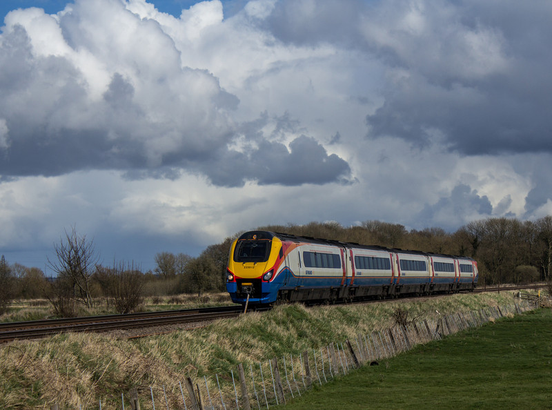 BR Class 222 Meridian DMU of East Midlands Trains.