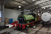 0-4-0 Saddle Tank in restoration area.