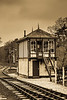 Holt Signal Box.Thought it looked better in Sepia tone than in colour.