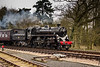 British Railways Standard 4 76084 masquarading as 76034 arriving at Holt.