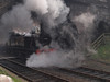 LMS 3F 47406 lost in smoke at Weybourne.
