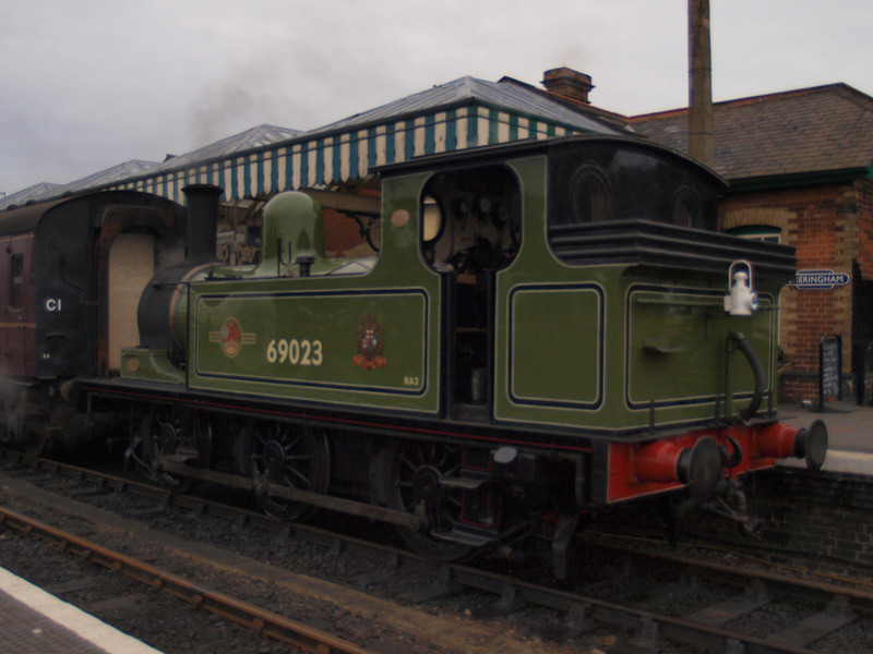 North Eastern Railway J72 No. 69023 at Sheringham station.