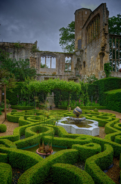 Sudelely Castle for tea with Lady Ashcombe; fascinating story and place. 3 July, 2012.