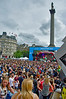 Thousands gather in London's Trafalgar Square to celebrate World Pride 2012, July 7, 2012.