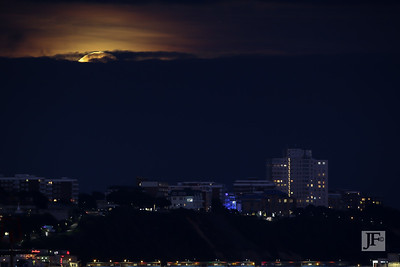 Supermoon over Bournemouth
