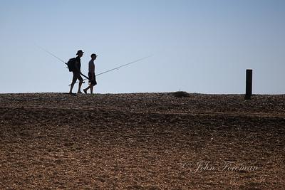 Fishermen at Keyhaven