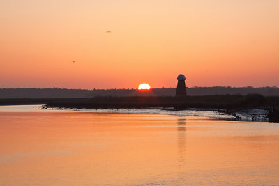 River Blythe sunset