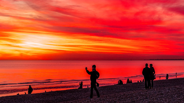 A November Sunset from Brighton Beach
