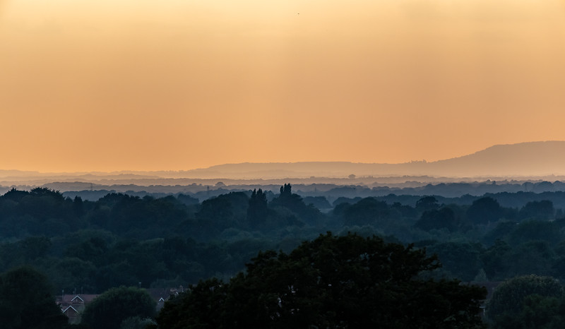 A Sussex Summer Sunset as seen from Ditchling