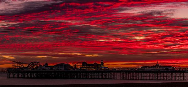 Sunset over Brighton Pier