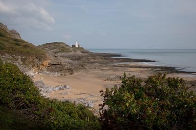 Mumbles Lighthouse from Bracelet Bay
