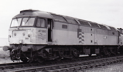 47380 at Immingham depot 10-10-1992  shortly before storage at Britiish Steel Scunthorpe.