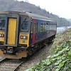 GWR 153382 leaving Looe  - 10 February 2017