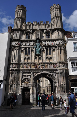 Christchurch Gate to Canterbury Cathedral as viewed from the Buttermarket (16.06.2012)