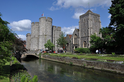 More scenic Canterbury.........The Great Stour River and the impressive Westgate (16.06.2012)